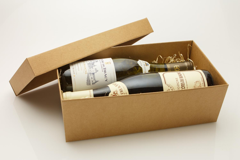 Подарочная коробка для бутылок своими руками