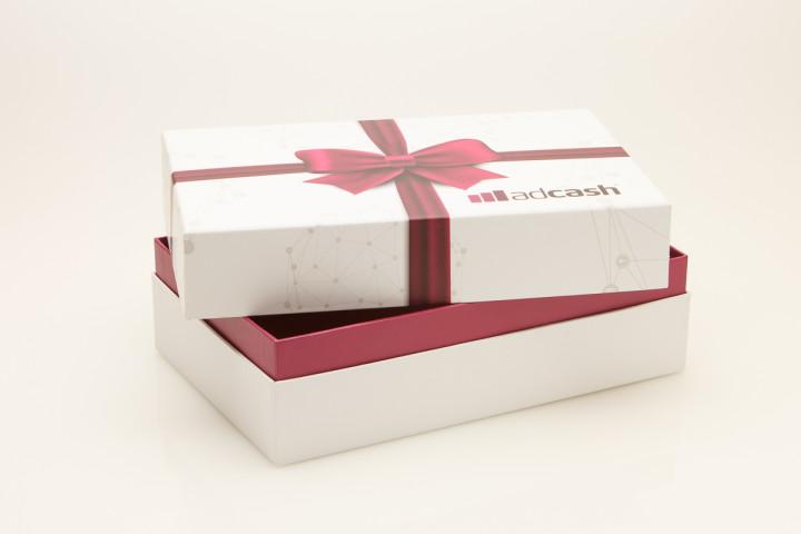 Ülekleebitud paberiga karp